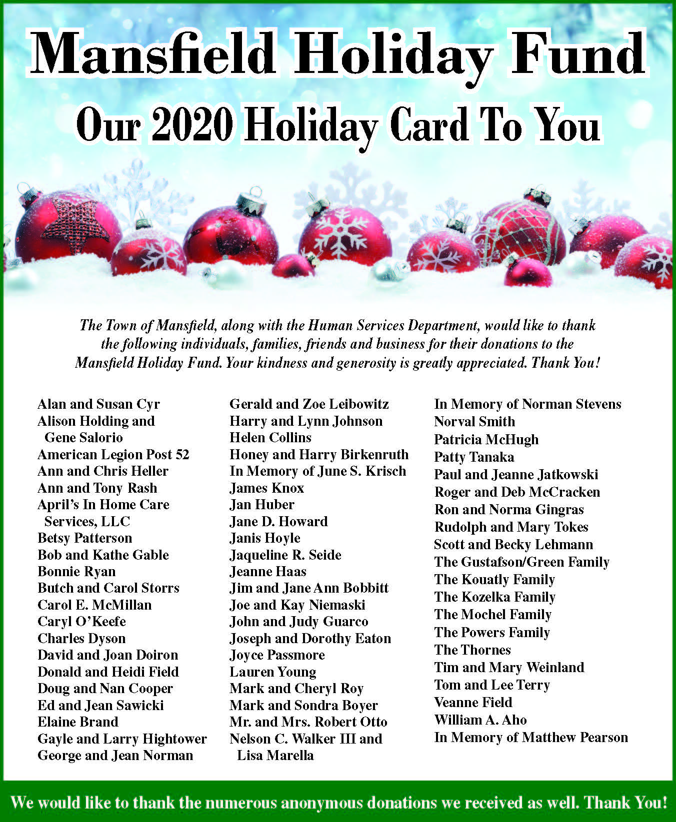 Holiday Donor Thank you 2020