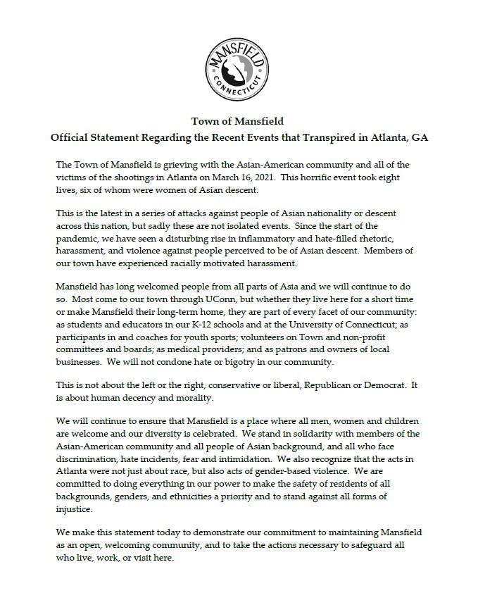 Council Statement Against Violence in Atlanta
